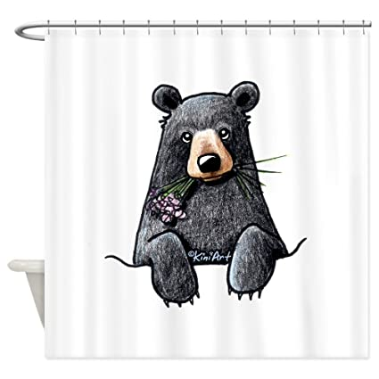 CafePress Pocket Black Bear Decorative Fabric Shower Curtain 69quot