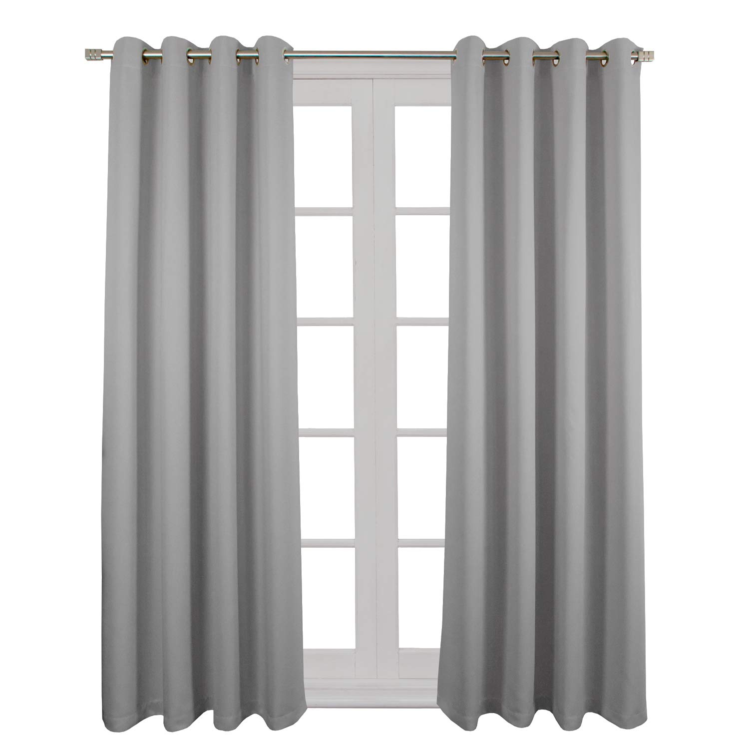 Room Darkening Curtains Thermal Insulated Blackout Drapes Windows Grommet Top Panels for Living Room Bedroom – Legend Collection by NIM Textile - 2 Panel Set, 54 x 63 Inch, Beige