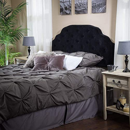 Christopher Knight Home Allyson Button Tufted Fabric Headboard