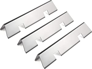 MikeGarden Flavorizer Bars Heat Plate Parts for Weber Genesis II E-210, LX E-240, LX S-240, Weber Genesis II/LX 200 Series Stainess Steel Flavorizer Bars for Weber 66031,17.12 x 2.95 x 2.16 (3-Pack)