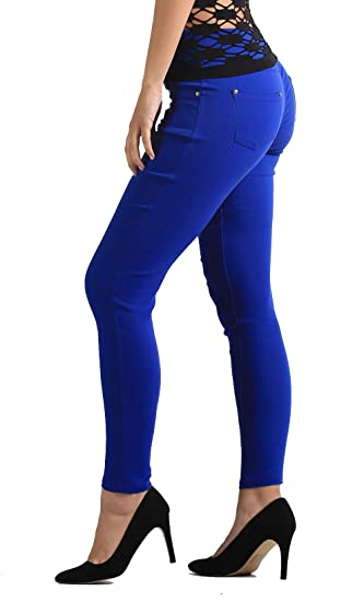 a6344bb1a8c NYFC Denim Leggings - Control Fit Slimming - Skinny Jeans Jeggings -  Several Colors and Sizes - Premium Collection (2X / 3X, Royal Blue) at  Amazon Women's ...