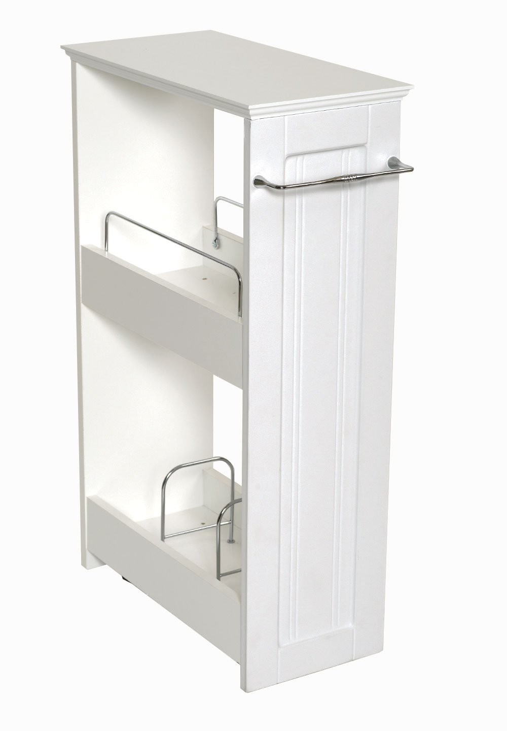 Amazon.com: Zenna Home 9227WWBB, Slimline Rolling Storage Shelf ...