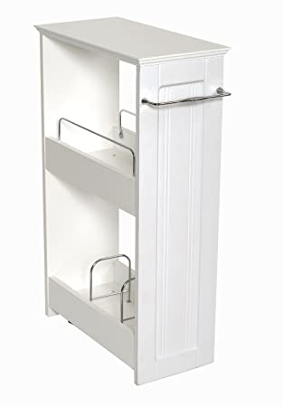 Amazon.com: Zenna Home 9227WWBB, Slimline Rolling Storage Shelf, White:  Home U0026 Kitchen