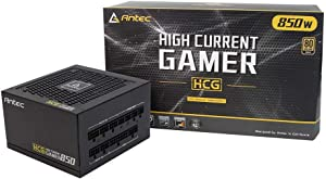 Antec HCG850 Gold Power Supply 850 Watts 80 Plus Gold PSU with 120mm Silent FDB Fan, Full Modular, Japanese Capacitors, Active PFC, 10 Years Support, ATX12V 2.4