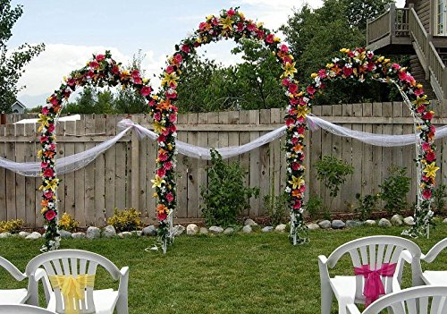 Tytroy White Metal Outdoor Indoor Arch Wedding Party Bridal Party Decoration (White (Arches And Arbors)