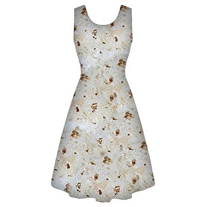 SMILEQ Vestido Vintage con Estampado de panqueques, Falda con ...
