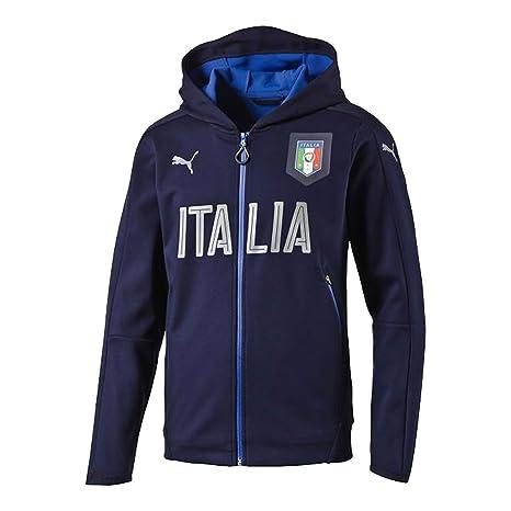 b2cfe1d2a3abe Felpa Rappresentanza Blu 16 18 Italia Puma XS Blu  Amazon.it ...