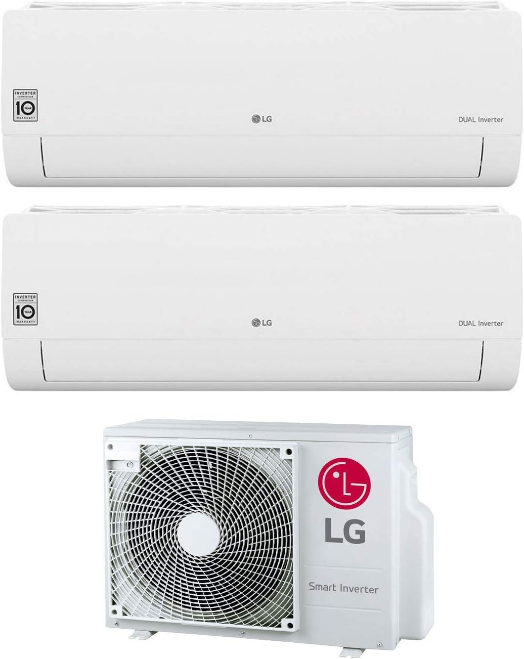 Gas R32 MU2R15 UL0 Serie Libero Climatizzatore Dual Split Inverter 7000+12000 Btu Classe A+++//A