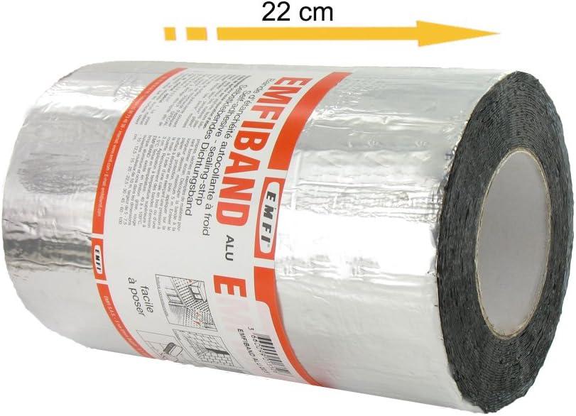 Bande d/étanch/éit/é autocollante /à froid Alu EMFI 22,5cm x 10m