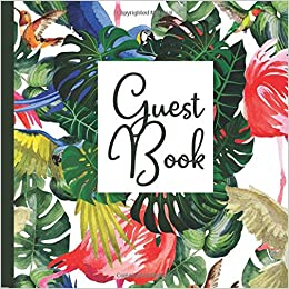 guest book hawaii party guest book includes gift tracker and