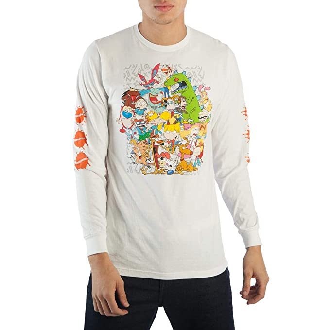 Mens Nickelodeon Shirt Nickelodeon Long Sleeve Shirt Nickelodeon Long  Sleeve Tee