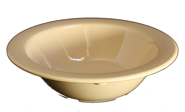 Z-Moments Western Melamine Fruit Bowl Monkey Bowl 4 oz. 4-3/4' dia. White or Tan NSF (12, Tan) US303
