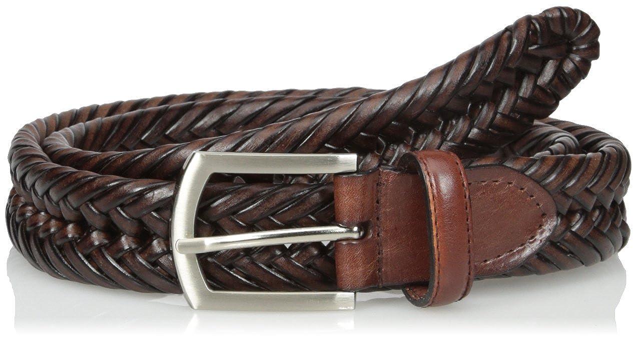 Nocona Mens Hired Brown Braided  Belt