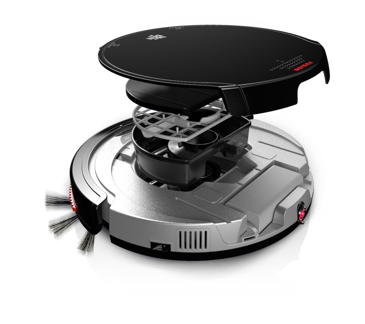 Dirt Devil Fusion 0.24L Negro, Plata aspiradora robotizada - Aspiradoras robotizadas (Negro, Plata, Alrededor, 0,24 L, Alfombra, Níquel-metal hidruro (NiMH) ...