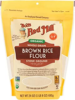 product image for Bob's Red Mill Flour Brown Rice, Whole Grain Organic, 24 Ounce (Pack of 4)
