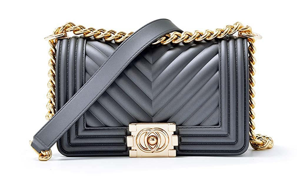 VEMLY Fashion Ladies Handbags Matte Chain Jelly Bag Women Mini Shoulder Crossbody Bag