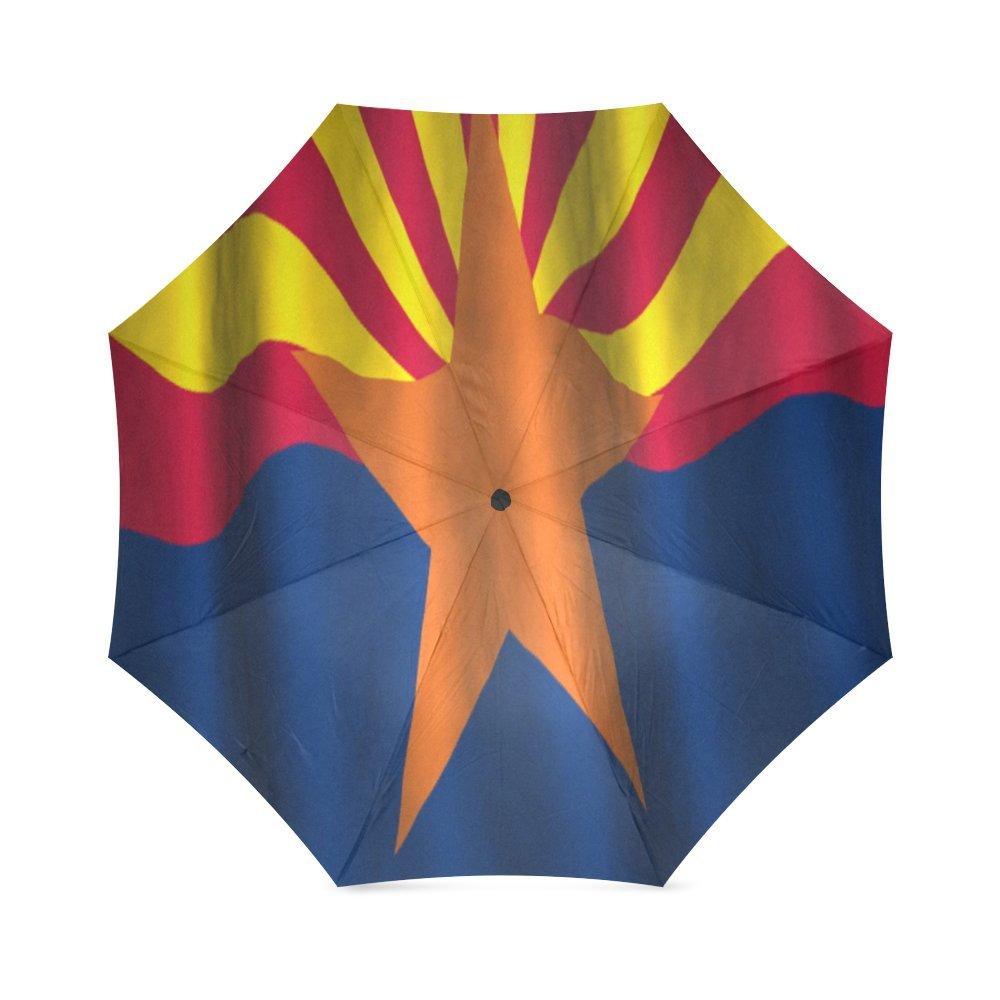 カスタムArizona State Flagコンパクト旅行防風防雨折りたたみ式傘 B075SCQ6N9