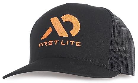 Amazon.com  First Lite - Black Logo Trucker - Black  Sports   Outdoors b39350016c2