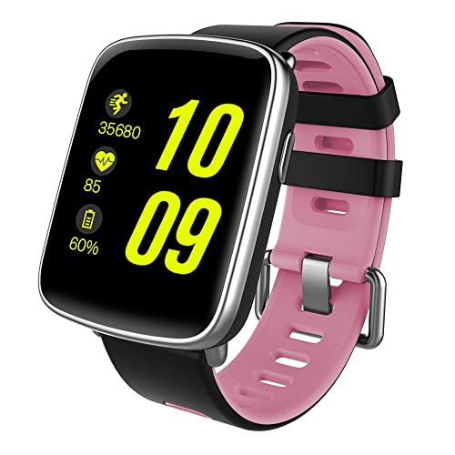 Smart Watch Waterproof IP68 Bluetooth Smart Watch Sport Fitness Tracker Touch Screen Watch for Android and IOS with Replaceable Band Heart Rate Monitor Pedometer for Men and Women