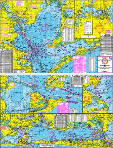 Hook And Line Maps Amazon.: Hook N Line Maps F102 Boat Fishing Map of Galveston