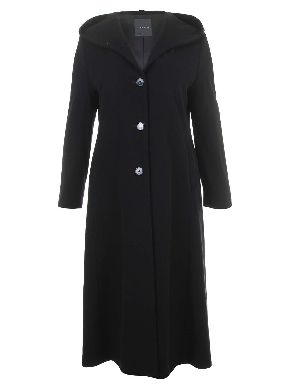 Langer Mantel in schwarz in Übergrößen (44, 48, 50, 52) von Erich Fend