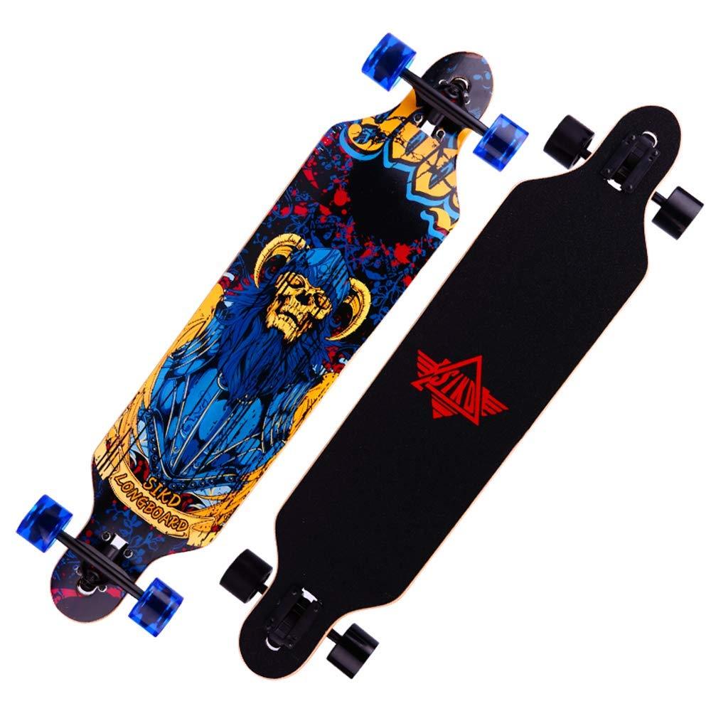Promoción por tiempo limitado KD Tablero Largo De Cuatro Ruedas De Baile Skate Board Road Scooter Cepillo Calle Scooter Profesional Masculino Y Femenino Cepillo para Adultos Street Board,1