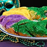 NOLA Mardi Gras 2-1.5 LB King Cakes Huge PARTY PACK WORLD FAMOUS PAT O'BRIEN'S HURRICANE MIX, MIXES 24 Beads, 24 Dabloons 24 Mask, 24 Stickers, 2 King Cake Babies