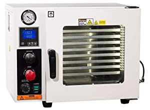 Across International AT09.110.UL Ai Accutemp UL CSA Certified 0.9 cu. ft. Vacuum Oven with 5 Sided Heating 110V Purging Oven with LCD Control, Gas Back-Fill Capability, Stainless Steel