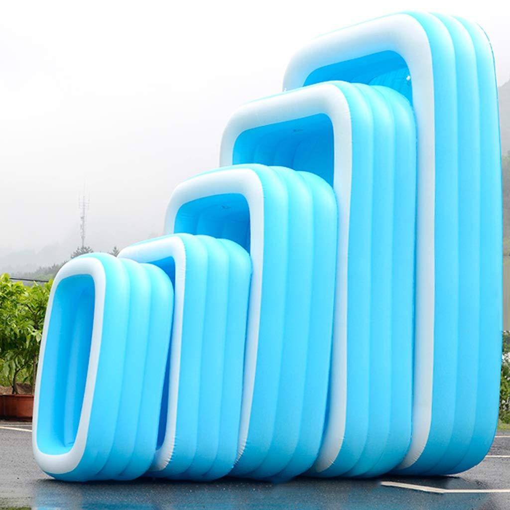 Innen-und Außen Home Swimmingpool, aufblasbare Badewanne Schwimmen Eimer Sommer-Spaß-Pool Kinderspielplatz Planschbecken Angeln Pool (Color : 3 rings-210cm) 3 Rings-130cm
