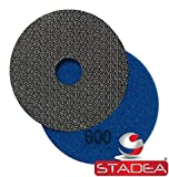 Stadea PPE118 Electroplated Diamond Polishing Pads 4'' Glass Concrete Marble Granite Wet Dry Diamond Fine Sandpaper Tool for Sanding Polishing Surfaces