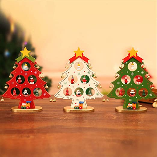 Bureze Adornos de Navidad de Madera para decoración de Mesa de casa: Amazon.es: Hogar