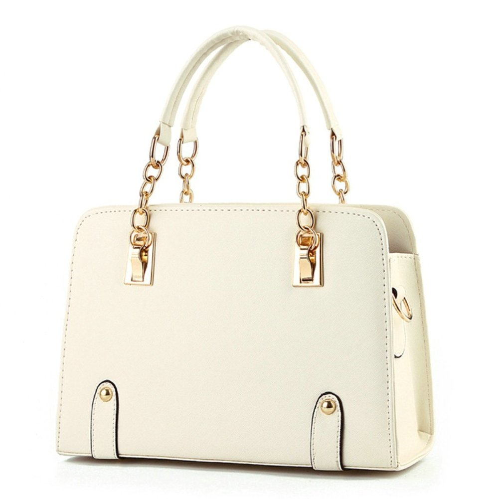 BeAllure Women's Stylish Designer Top-Handle Handbag for Ladies (Beige)