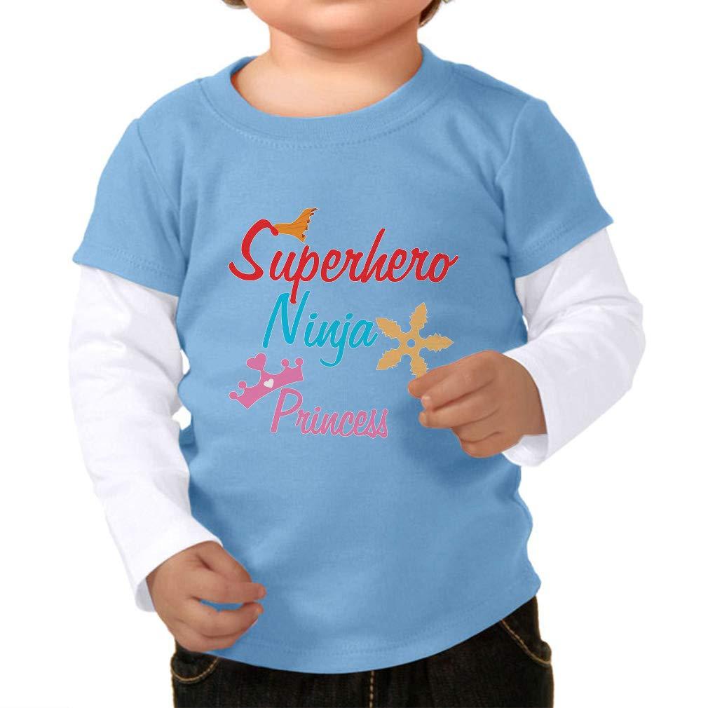 Amazon.com: Superhero Ninja Princess Boys-Girls Cotton Long ...