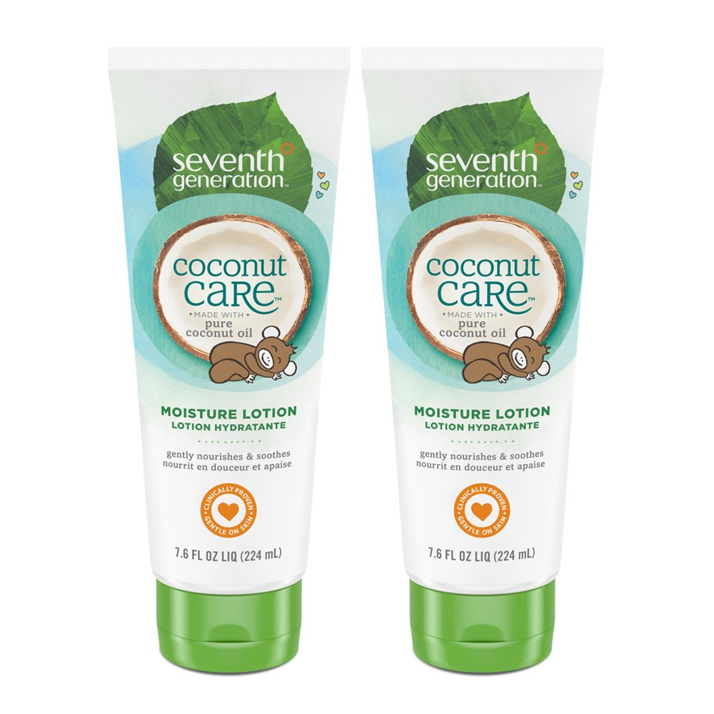 Seventh Generation Baby Lotion with Moisturizing Coconut Care, 7.6 oz (2 count) by Seventh Generation