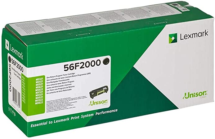Lexmark 56f2000 Original Toner Pack Of 1 Bürobedarf Schreibwaren