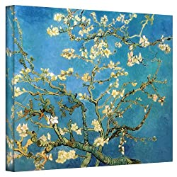Art Wall Almond Blossom By Vincent Van Gogh Gallery Wrapped Canvas Art, 24 By 32-inch
