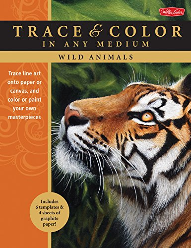 Wild Animals: Trace line art onto paper or canvas, and color or paint your own masterpieces (Trace & Color) ebook