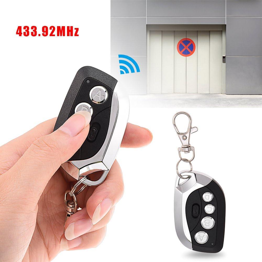 Vbestlife 433.92 MHz Nero alimentazione CC telecomando duplicatore universale per auto 6V garage e cancelli elettrici