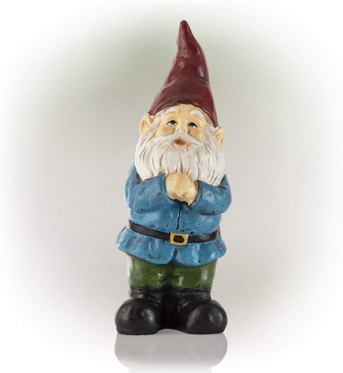 Alpine Corporation ZEN872 Alpine Red Hat Bearded Garden Gnome Statue, Multicolor