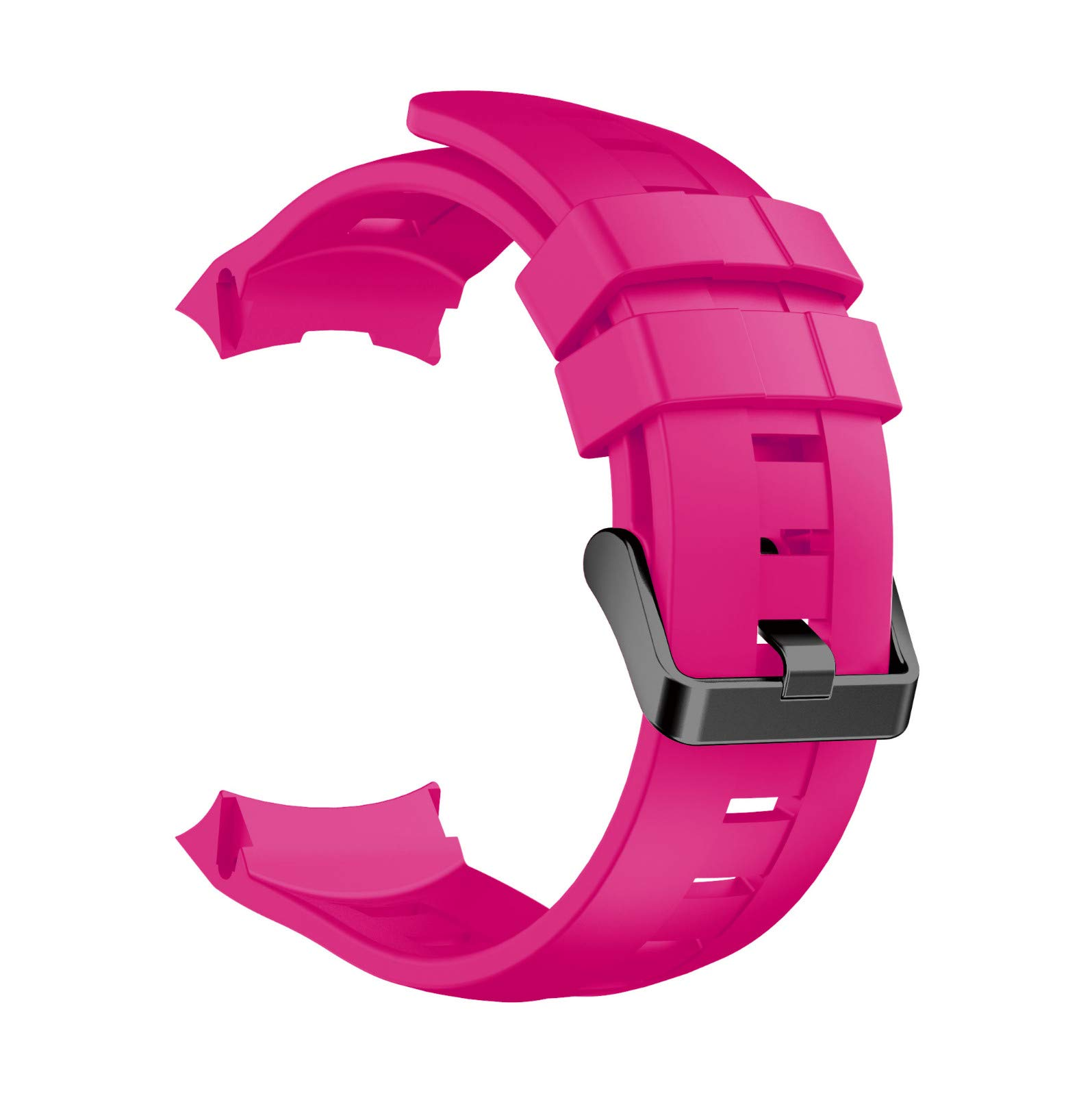 Sonmer Replacement Soft Silicone WristBand Strap For Suunto Ambit 3 Vertical (Hot Pink)