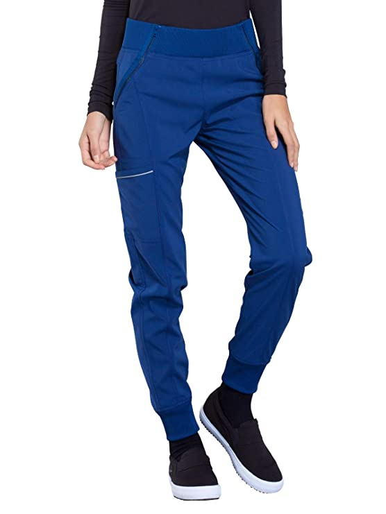 Cherokee Infinity CK110A Mid Rise Tapered Leg Jogger Pant Royal S best women's scrub pants