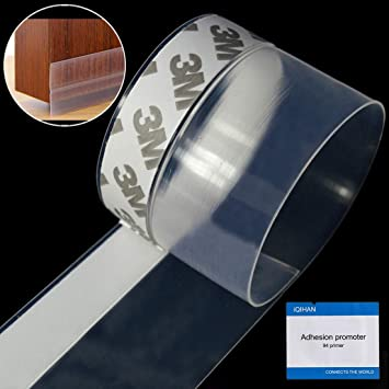 Self-Adhesive Door Weather Stripping Silicone Door Seal Strip Window Weatherstripping Seal Strip Draught Excluder Insect Proof Gap Sealing Soundproof /& Energy-Saving 1 Inch Width 16ft Transparent