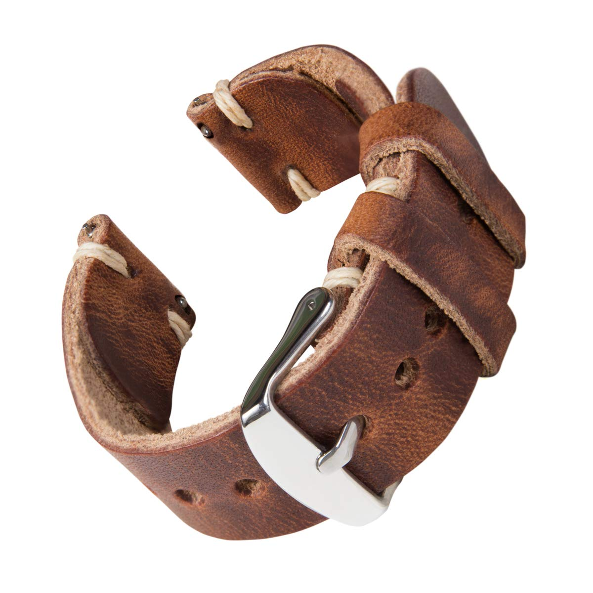 Archer Watch Straps - Handmade Horween Leather Quick Release Replacement Watch Bands for Men and Women, Watches and Smartwatches (English Tan/Natural, 22mm) by Archer Watch Straps