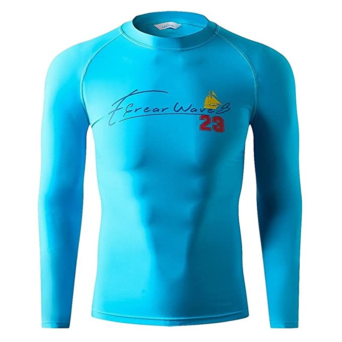 Sharplace M/änner Langarm Rash Guard UV Schutz Lang /Ärmel im Wasser Sport Shirt