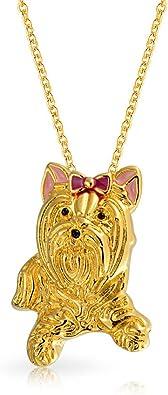 Bling Jewelry BFF Beste Freundin Yorkshire Terrier Rosa