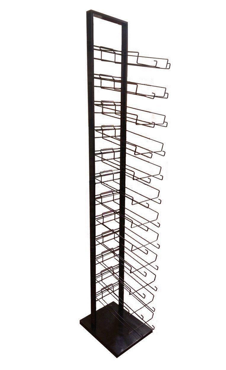12 Tier Black Cap Rack (Holds 144 Hats) by Only Garment Racks (Image #1)