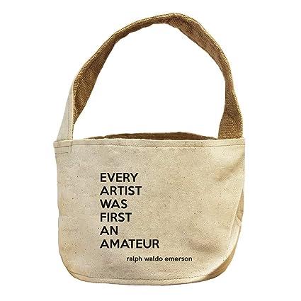 Amazon.com: Style In Print Every Artist Amateur (Ralph Waldo Emerson)  Canvas And Burlap Storage Basket: Home U0026 Kitchen