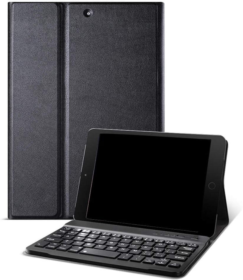 ZHEN LI Tablet PC Bluetooth Holster Silicone Soft Shell MINI123-Navy Blue Set Black Keyboard