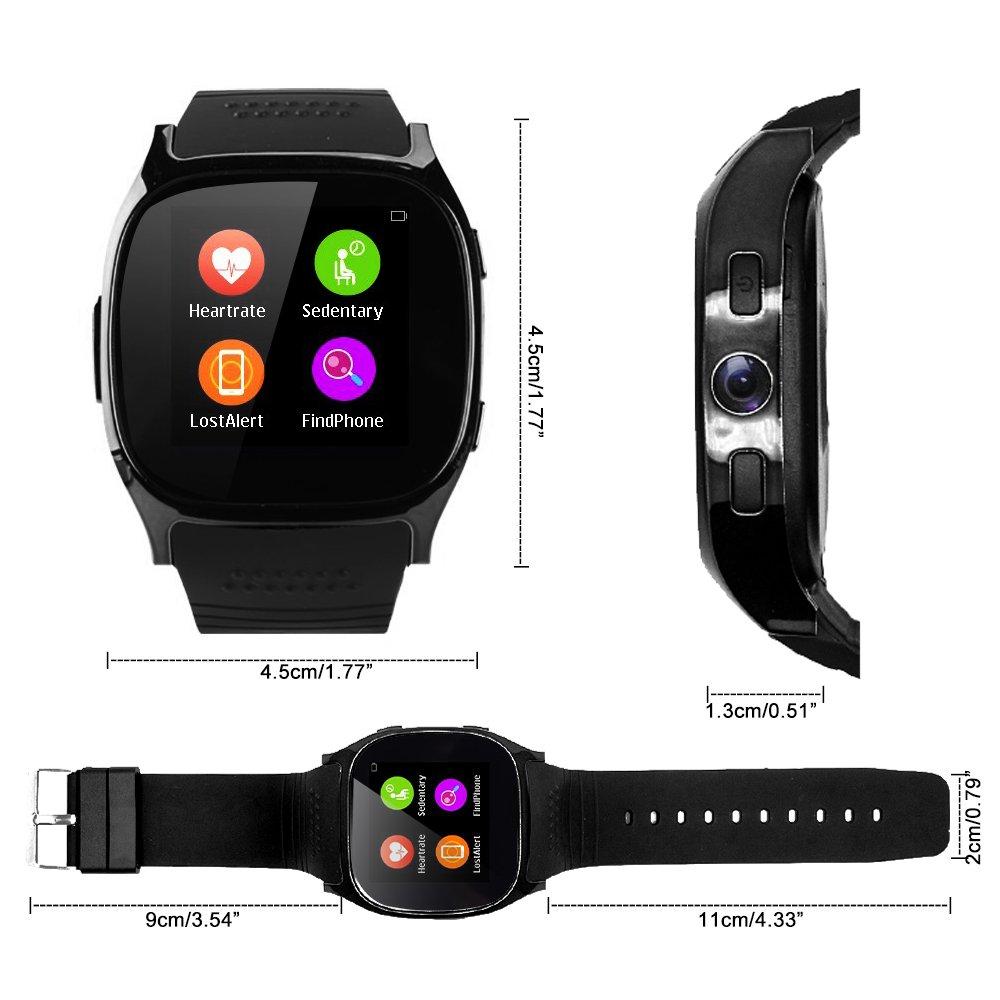 TOP-MAX - T8 - Smartwatch (Bluetooth Smart Reloj Oro con ...
