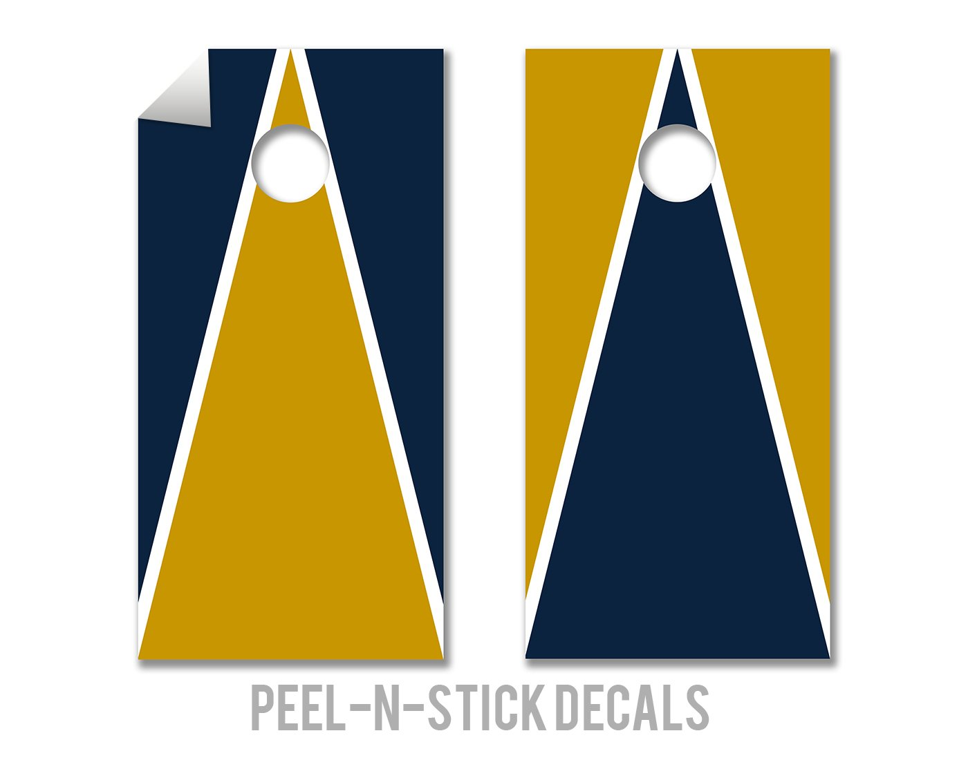 Navy & Gold - Cornhole Crew - ACA Regulation Size Cornhole Board Decals by The Cornhole Crew